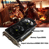 NVIDIA GeForce GTX750Ti 1GB DDR5 VGA/DVI/HDMI PCI-Expressx16 Video Graphics Card