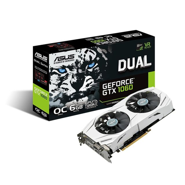 ASUS GeForce GTX 1060 6GB DUAL-GTX1060-O6G GDDR5 PCI Express 3.0 OC Edition VR